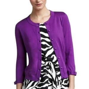 Kate Spade Somerset Cardigan In Fuchsia